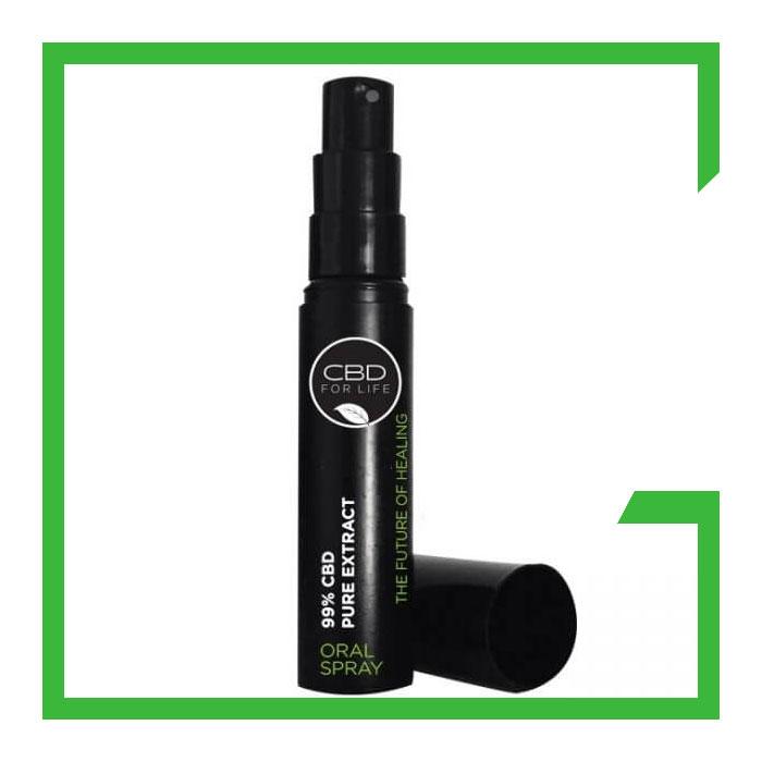 CBD Oral Spray Black Bottle Black Label